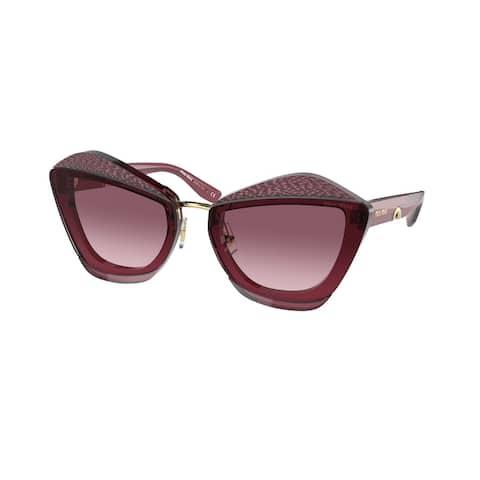 Miu Miu MU 01XS 08T3G2 67 Bordeaux Woman Butterfly Sunglasses