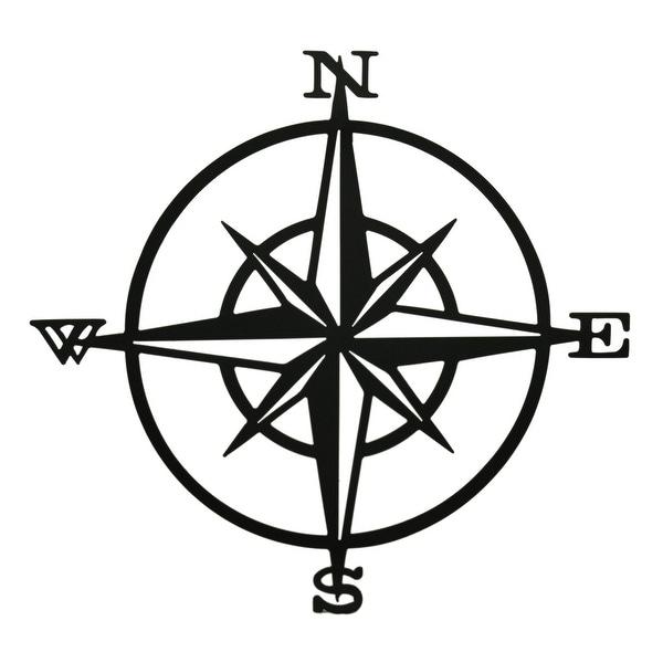 Shop Compass Rose Western Star Black Metal Wall Hanging 33