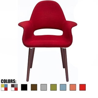 2xhome - Fabric Chair Mid-Century Modern Accent Chairs Black Wood Legs For Dining Chairs