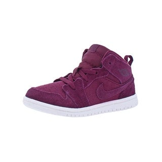 Jordan Boys 1 Mid BT Fashion Sneakers Perforated Fashion - 10 medium (d) toddler