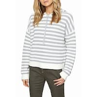 Sanctuary Women's Small Striped Hooded Knit Sweater