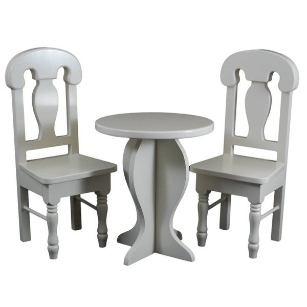 Shop Cream Colored Wooden Cafe Or Kitchen Table And Two Chairs