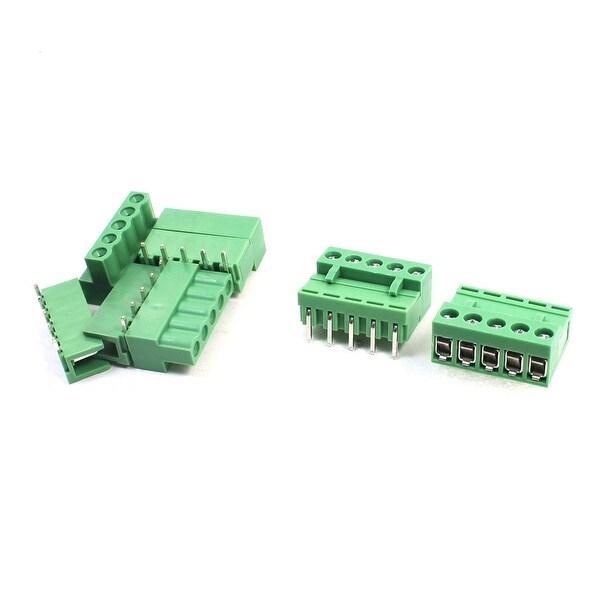 Unique Bargains 5 Pcs 5.08mm Spacing 14-26AWG 5Pin Pluggable Type PCB Screw Terminal Block