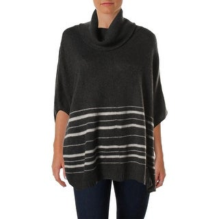 360 Sweater Womens Cashmere Turtleneck Poncho Sweater