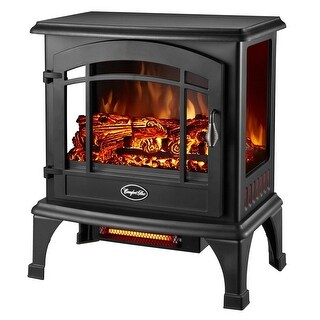 Comfort Glow EQS5140 Sanibel 3-Sided Infrared Quartz Electric Stove, 4600 BTU