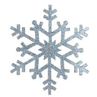 "4.75"" Light Blue Glittered Snowflake Christmas Ornament"