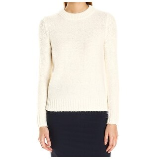 Theory NEW White Ivory Womens Size Large L Pullover Textured Sweater