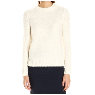 Theory NEW White Ivory Womens Size Medium M Pullover Textured Sweater