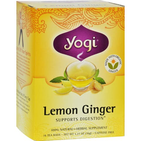 Yogi Tea Lemon Ginger - Caffeine Free - 16 Tea Bags