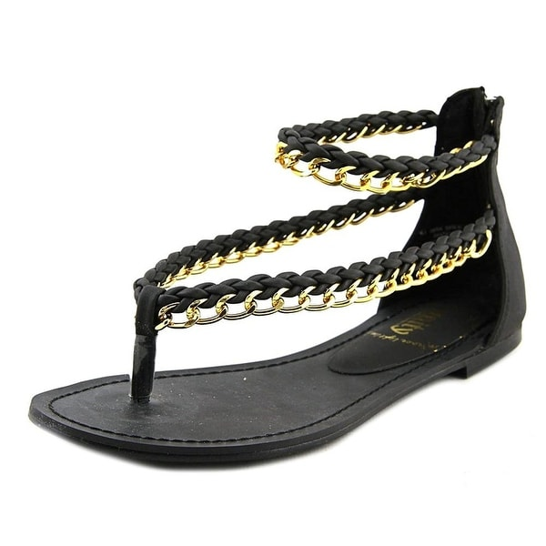 Unity by Carlos Santana Satisfy Flat Ankle Strap Sandals - Black