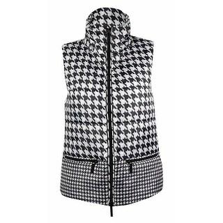 MICHAEL Michael Kors Women's Houndstooth Puffer Vest - ecru - XS