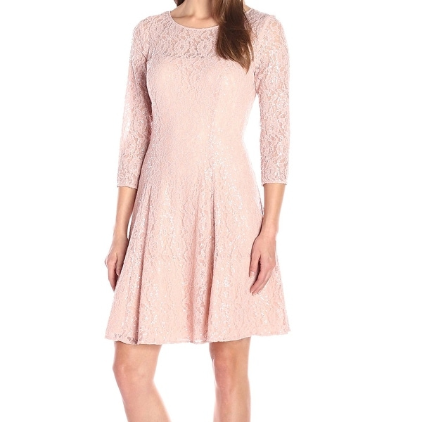 f890b19cee Shop SLNY NEW Light Pink Women s Size 16 Sheath Lace Sequin Seamed Dress -  Free Shipping On Orders Over  45 - Overstock - 16736136