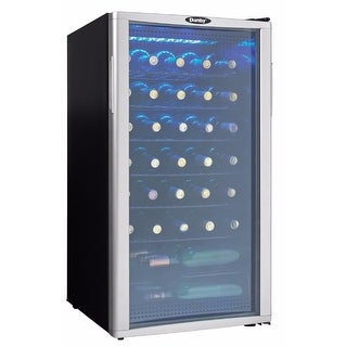 Danby DWC350 18 Inch Wide 35 Bottle Capacity Free Standing Wine Cooler with LED