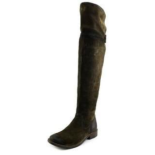 Frye Shirley OTK Women Round Toe Synthetic Green Over the Knee Boot