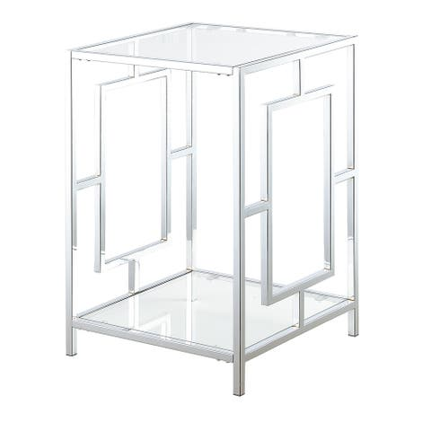 Silver Orchid Adolfi Chrome End Table