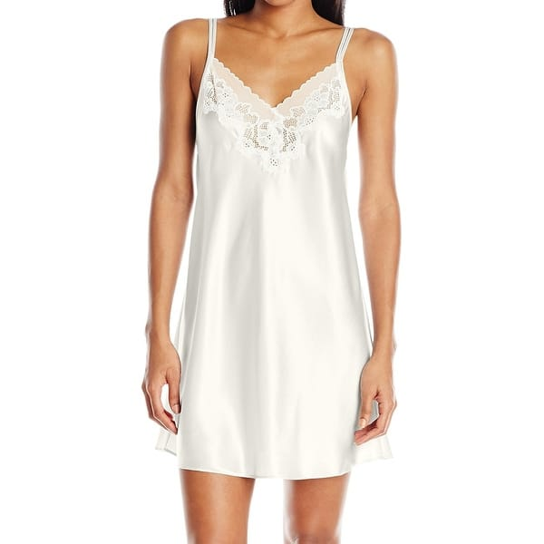 c92282550 Shop Oscar de la Renta NEW White Womens XL Satin Lace Sleepwear ...