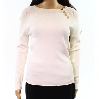 525 America NEW White Ivory Womens Size Medium M Ribbed Crewneck Sweater