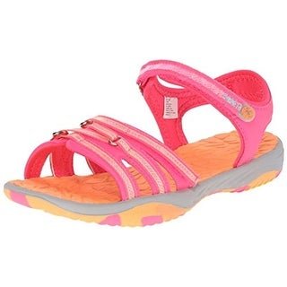 Jambu Girls Lowi Colorblock Faux Leather Sport Sandals - 1 medium (b,m)