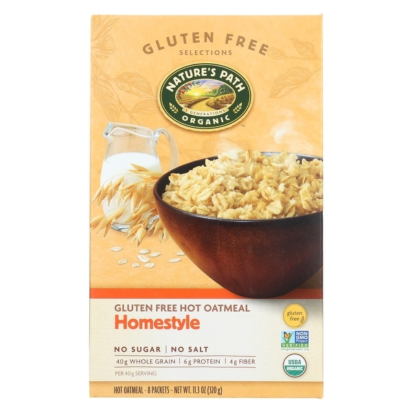 Nature's Path Organic Hot Oatmeal - Homestyle - Case of 6 - 11.3 oz.