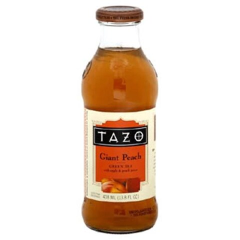 Tazo Tea Giant Peach Iced Tea 13.8 Oz -Pack of 12
