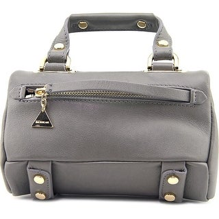 Golden Lane Mini Soave Duo Satchel    Leather  Messenger - gray