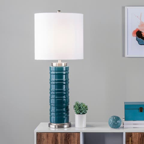 "nuLOOM Malia 36"" Ceramic Table Lamp - 15""W x 15""D x 35.5""H"