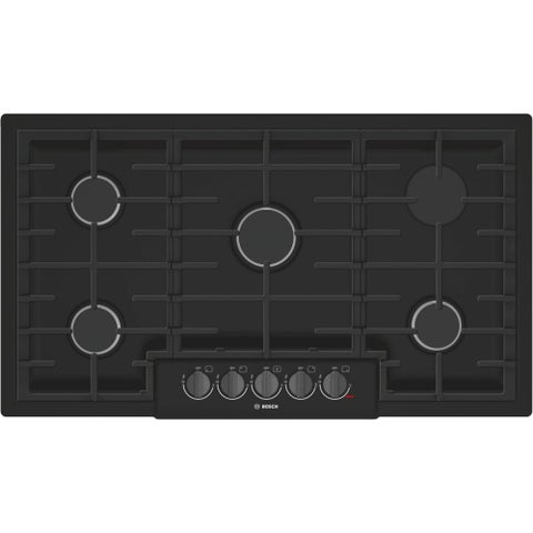 Bosch NGM8646UC 800 Series 36 Inch Wide Built-In Gas Cooktop with 5 Sealed Burne - Black - N/A