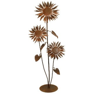 Patina Products S665 Large Sun Flower Garden Sculpture