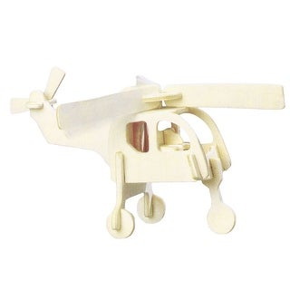 Child Woodcraft Construction Kit Helicopter Model Educational 3D Puzzle Toy