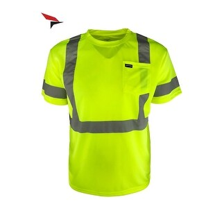 Woodpecker Workwear Reflective Safety Pocket Short Sleeve Hi Vis T-Shirt