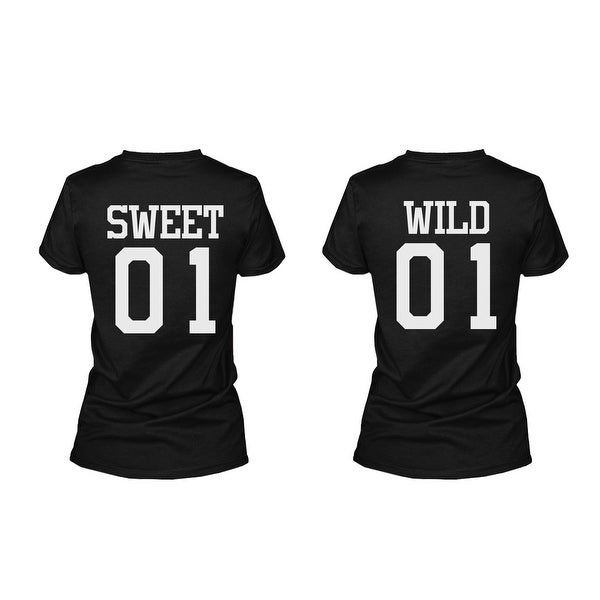06c0c7df6 Shop Sweet 01 Wild 01 Matching Best Friends T-Shirts BFF Tees For Two Girls  Friends - Free Shipping On Orders Over $45 - Overstock - 23148288