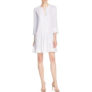 Vince Womens Casual Dress Long Sleeves Pleated