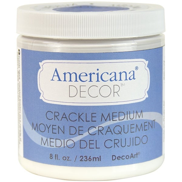 Americana Decor Crackle Medium 8oz-Clear - CLEAR