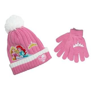 Disney Girl's Princess Hat and Glove Winter Set