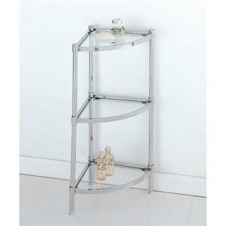 Organize It All 16963 3 Tier Bathroom Corner Shelf