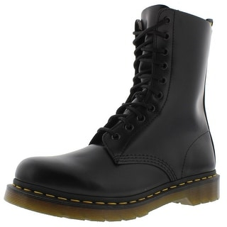 Dr. Martens Womens 1490 Leather Lace-Up Combat Boots - 9 medium (b,m)