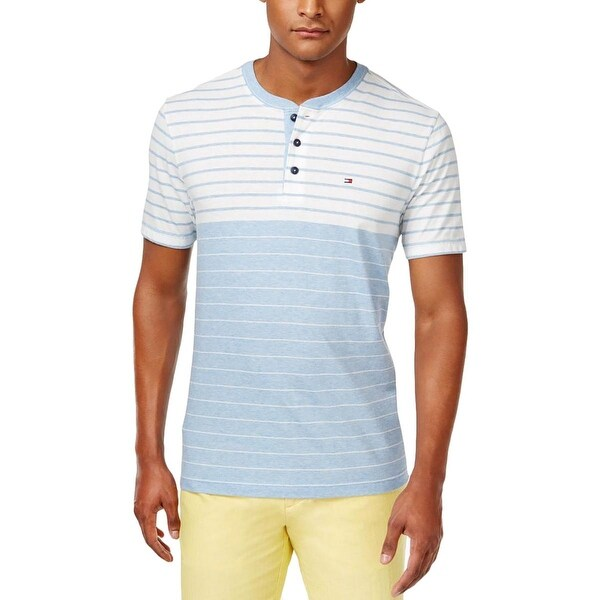 88bb6147c Shop Tommy Hilfiger Mens Henley Shirt Striped Heathered - Free Shipping On  Orders Over $45 - Overstock - 15911751