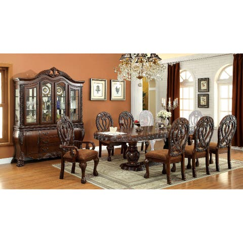 Dining Set with Expandable Leaf in Cherry