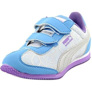 Puma Whirlwind Swirl V Kids Round Toe Canvas Sneakers