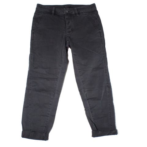 prAna Womens Pants Gray Size 4 Capri Janessa Button-Front Stretch