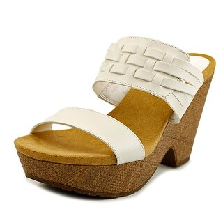 Chaps Jaslyn Women Open Toe Synthetic White Wedge Sandal