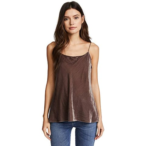 Vince Women's Velvet Camisole, Cocoa Bean, Large