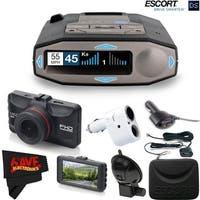 Escort 0100037-1 Max 360C Radar Laser Detector with Wi-Fi + Minolta 1080p Full HD Dash Cam Bundle