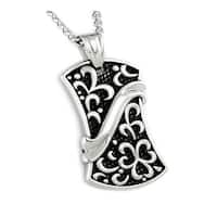 Stainless Steel Men's Pendant - 24 inches