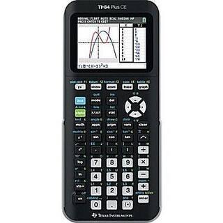 Texas Instruments - 84Plce/Tbl/1L1/B -Ti-84 Plus Ce Graphing Calculator, Black|https://ak1.ostkcdn.com/images/products/is/images/direct/3728ec73b9f61665fad5b3a62b30f9c568169a5a/Texas-Instruments---84Plce-Tbl-1L1-B--Ti-84-Plus-Ce-Graphing-Calculator%2C-Black.jpg?impolicy=medium