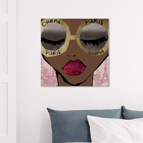 Wynwood Studio 'Ready For The City Gold' Fashion and Glam Wall Art Canvas Print Accessories - Gold, Brown