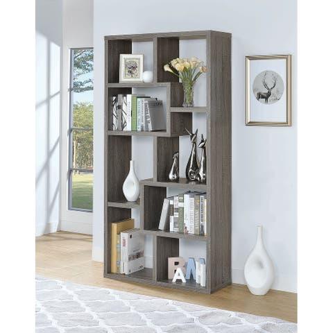 Bynum Weathered Grey 8-shelf Bookcase