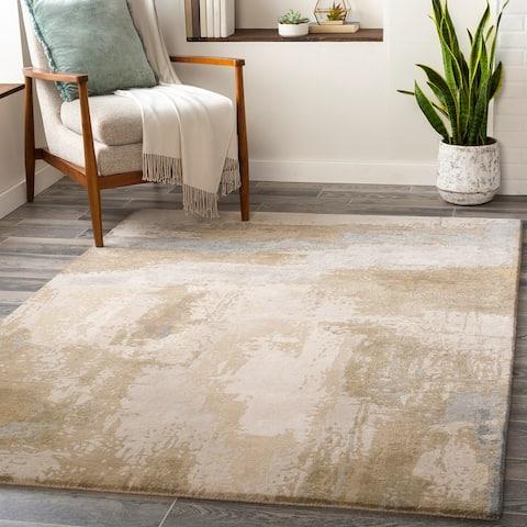 Niagara Modern Wool/Viscose Hand-Tufted Area Rug