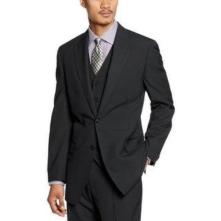 Shaquille O'Neal Big and Tall Charcoal Pinstripe Wool Sportcoat 52 ...
