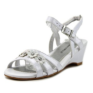 Christie & Jill Colbie Youth Open-Toe Synthetic White Slingback Heel